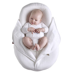 Red Castle Cocoonacover - Fleur De Coton 1.0Tog (White) - lifestyle image (Cocoonababy Support Nest not included, available separately)