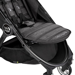 Baby Jogger City Tour 2 (Pitch Black) - close view, showing the adjustable leg rest