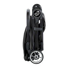 Baby Jogger City Tour 2 (Pitch Black) - side view, shown folded