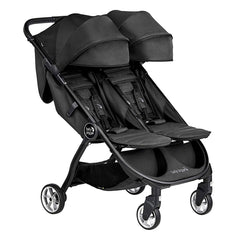Baby Jogger City Tour 2 - Double (Jet) - quarter view, shown here with leg rests raised