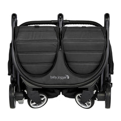 Baby Jogger City Tour 2 - Double (Pitch Black) - front view, shown here folded