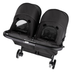 Baby Jogger City Tour 2 - Double (Pitch Black) - overhead view, showing the viewing window in each hood