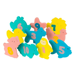 ClevaMama Baby Bath Foam Toys (Multi-Coloured) - showing the foam animal shapes