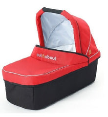 Out n About Nipper Carrycot (Carnival Red) - quarter view