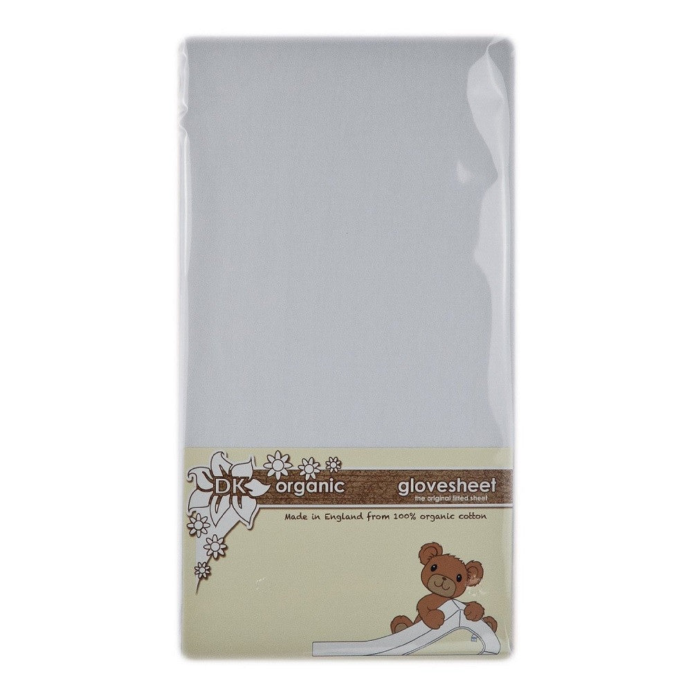 DK Glovesheets 100% Organic Cotton Chicco Next 2 Me Fitted Sheet (White)