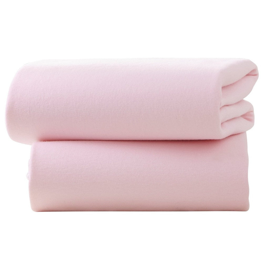 Clair De Lune Fitted Cot Bed Sheets (Pink) - pack of two