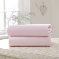 Clair De Lune Fitted Cot Bed Sheets (Pink)