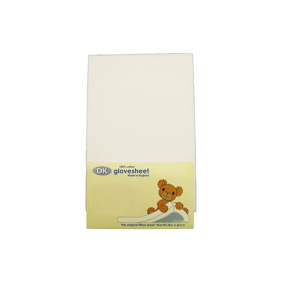 White Fitted Sheet (DK) Small Moses