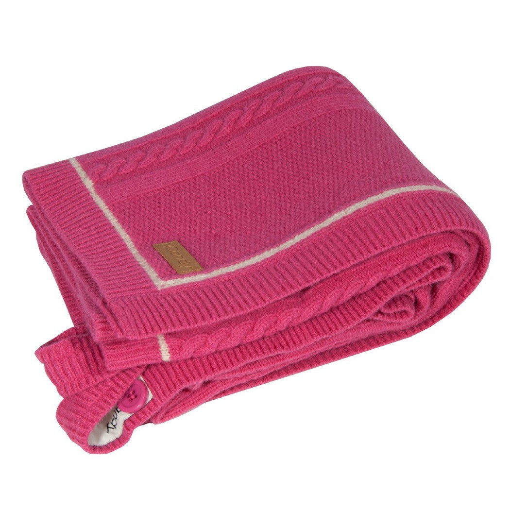 Cableknit Blanket in Rose Pink by iCandy