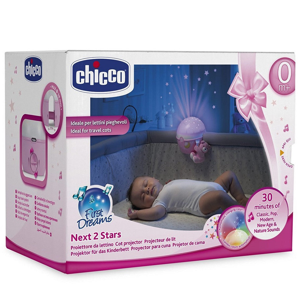 Next 2 Stars Night Light Projector (Pink) by Chicco