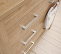Babystyle Bordeaux Drawers (Oak) close up view