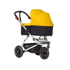 Mountain Buggy Swift & MB Mini Carrycot Plus (Gold) - quarter view shown on chassis