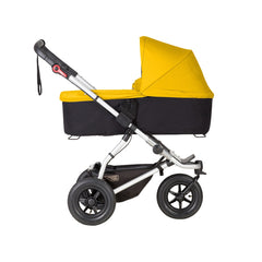 Mountain Buggy Swift & MB Mini Carrycot Plus (Gold) - side view shown on chassis