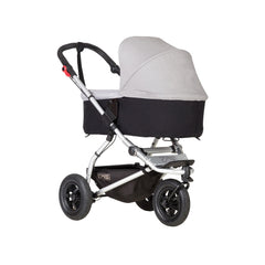 Mountain Buggy Swift & MB Mini Carrycot Plus (Silver) - quarter view shown on chassis