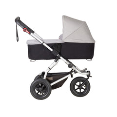 Mountain Buggy Swift & MB Mini Carrycot Plus (Silver) - side view shown on chassis