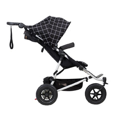 Mountain Buggy Duet v3.0 Double Pushchair (Grid) - side view, shown upright