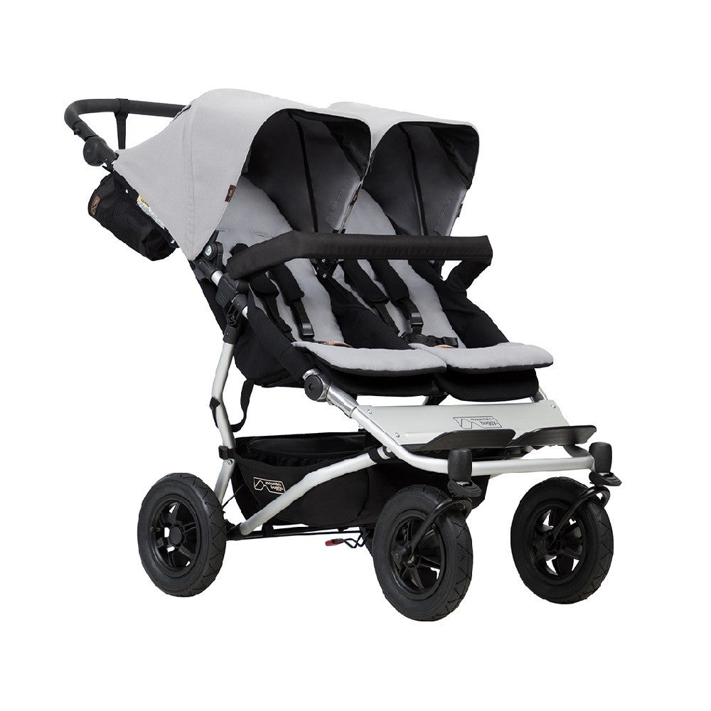 Mountain Buggy Duet v3.0 Double Pushchair (Silver)