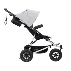 Mountain Buggy Duet v3.0 Double Pushchair (Silver) - side view
