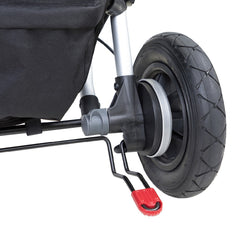 Mountain Buggy Duet v3.0 Double Pushchair (Silver) - showing parking brake