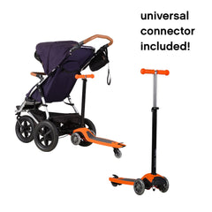 Mountain Buggy Freerider Buggy Board / Scooter (Orange) - shown attached to a buggy (buggy not included)