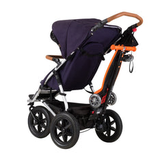 Mountain Buggy Freerider Buggy Board / Scooter (Orange) - showing board stowed onto buggy (buggy not included)