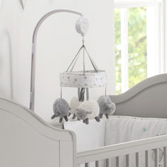 Silvercloud Counting Sheep Cot Mobile (Sheep) - lifestyle image (cot and bedding not included)