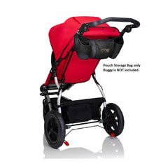 Mountain Buggy Pouch Storage Bag (Black) - shown attached to buggy (buggy is not included)