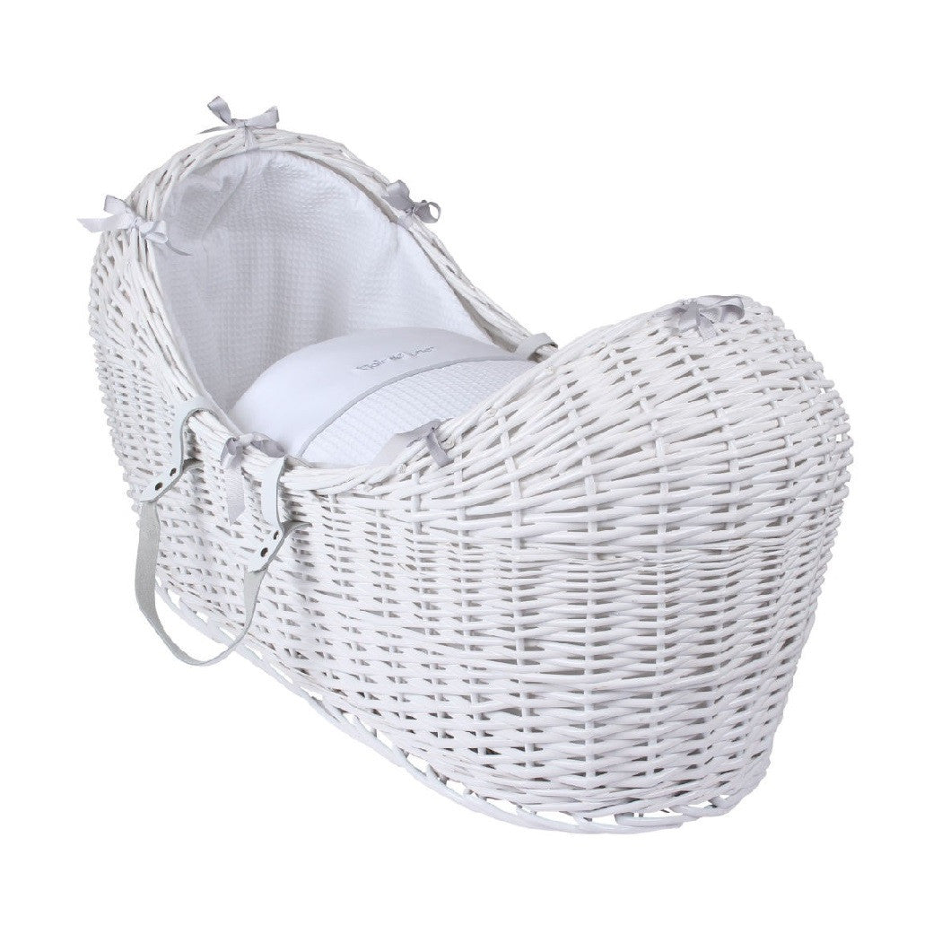 Clair de Lune White Noah Pod with White Silver Lining Bedding