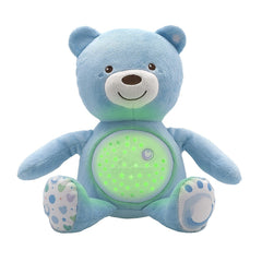 Chicco Baby Bear Light (Blue) - front view, shown with light activated