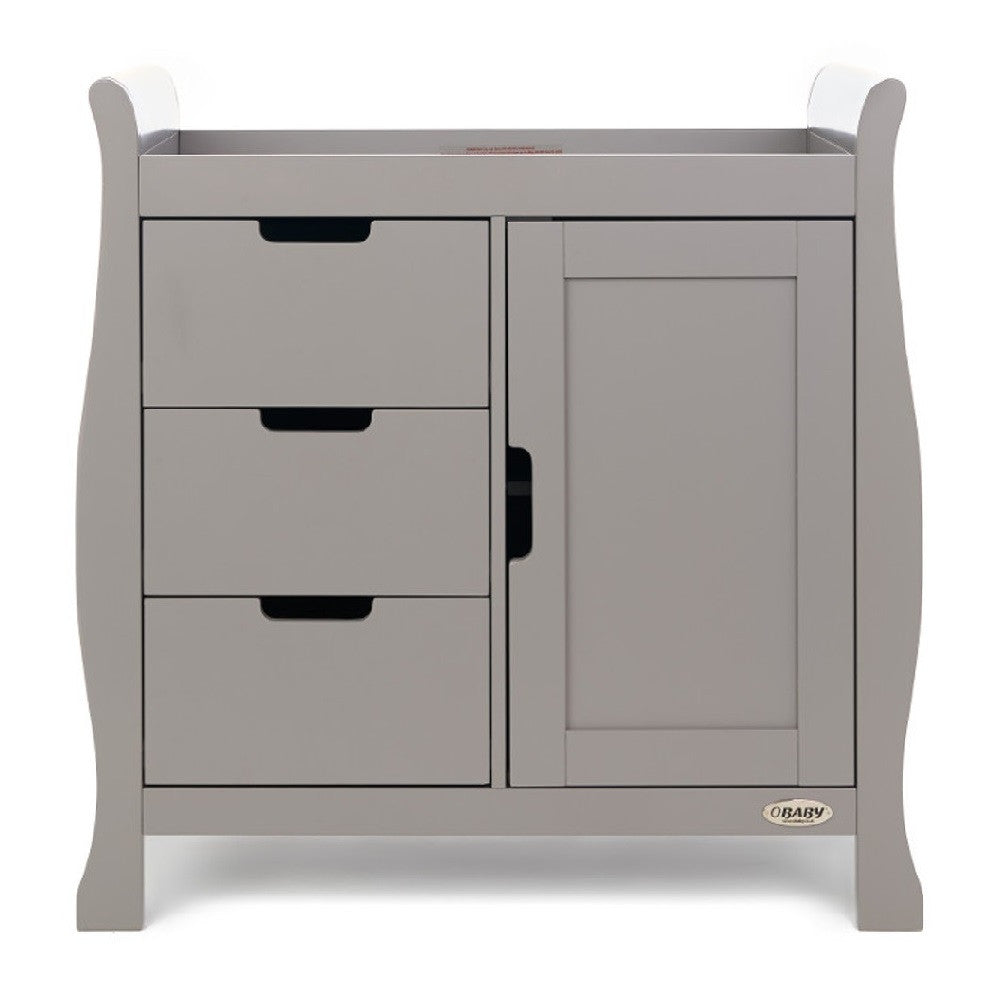 Obaby Stamford Sleigh Changing Unit (Taupe Grey)