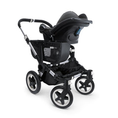 Bugaboo Donkey (Mono) Maxi-Cosi Car Seat Adaptors - showing car seat attached to Donkey Mono (pushchair not included)