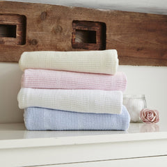 Clair De Lune Cellular Cot Bed Blanket - lifestyle image, showing other colours