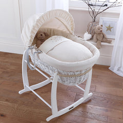 Clair de Lune Deluxe Moses Basket Rocking Stand (White)