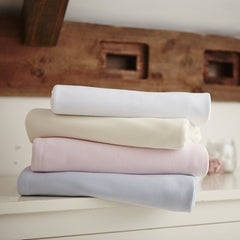 Clair De Lune Fitted Sheets for Moses Baskets - showing the available colours
