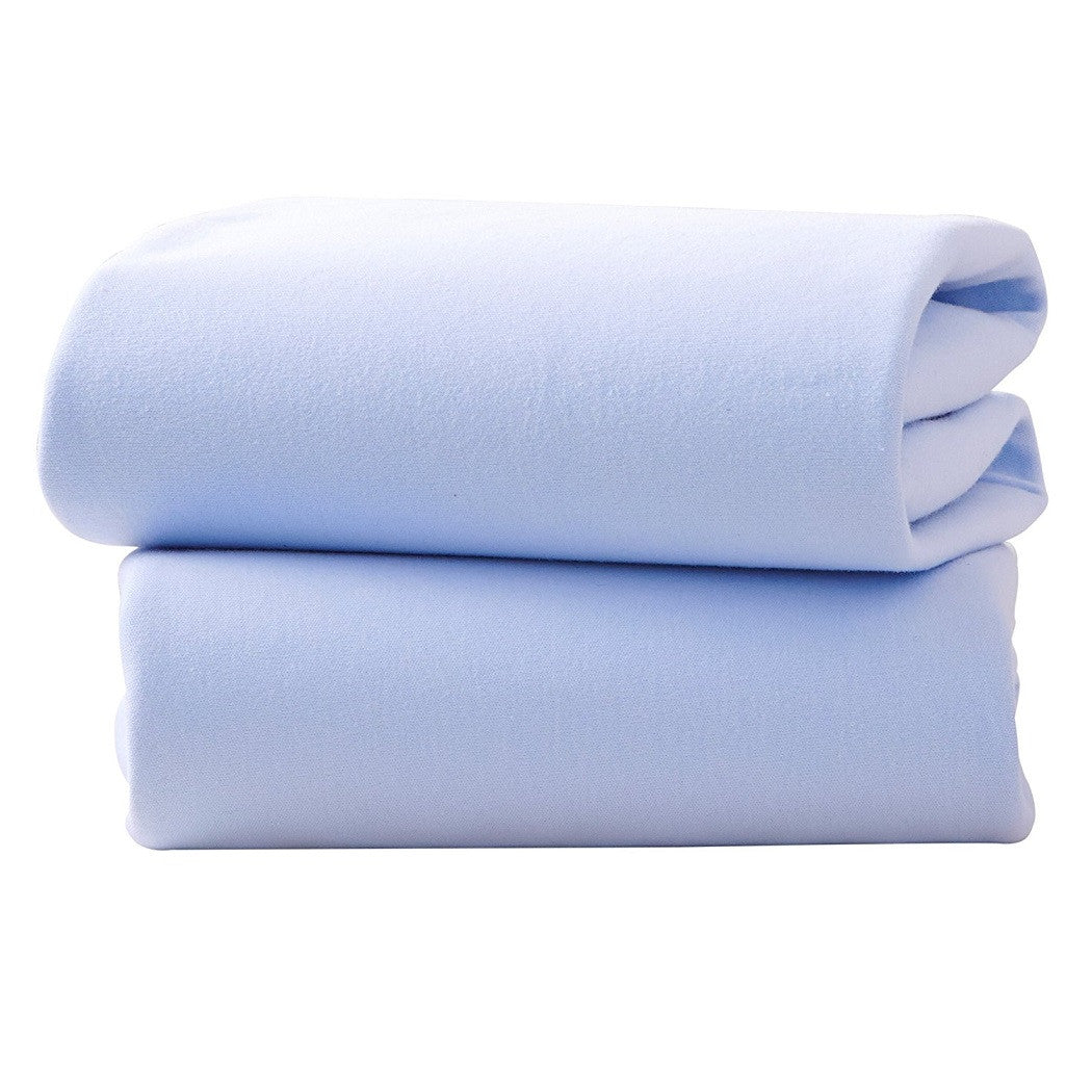 Clair De Lune Fitted Sheets for Moses Baskets - Pack of 2 (Blue)