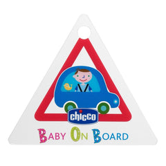 Chicco Car Travel Kit - showing the 'Baby on Board' sign