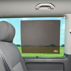 Chicco Car Travel Kit - lifestyle image, showing the protective film in use on a car window