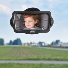 Chicco Car Travel Kit - lifestyle image, showing the rear view mirror being used in a car