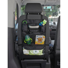 Chicco Car Travel Kit - lifestyle image, showing the storage organiser fitted over a front seat