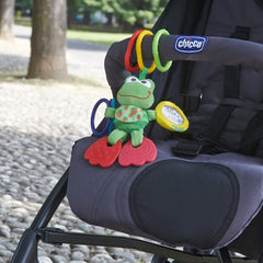 Chicco Stroller Kit - lifestyle image, showing one of the hooks with a toy attached