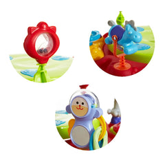MyChild Twizzle Activity Centre (Brights) - showing three of the toys