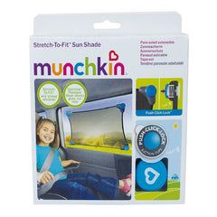 Munchkin Stretch-to-Fit Sun Shade (Black) - shown here in its packaging