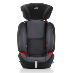 Britax-Romer Multi-Tech III (Storm Grey) - front view, shown here with harness removed and headrest raised