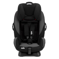 Joie Every Stage Group 0+/1/2/3 Car Seat (Two Tone Black) - front view, stage two shown with insert removed and headrest raised