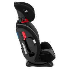 Joie Every Stage Group 0+/1/2/3 Car Seat (Two Tone Black) - side view, shown upright with headrest raised to full height