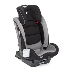 Joie Bold Group 1/2/3 ISOFIX Car Seat (Slate) - quarter view, shown without harness and headrest raised