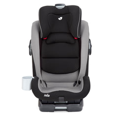 Joie Bold Group 1/2/3 ISOFIX Car Seat (Slate) - front view, shown without harness and headrest raised