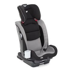 Joie Bold Group 1/2/3 ISOFIX Car Seat (Slate) - quarter view, shown without harness and headrest fully raised