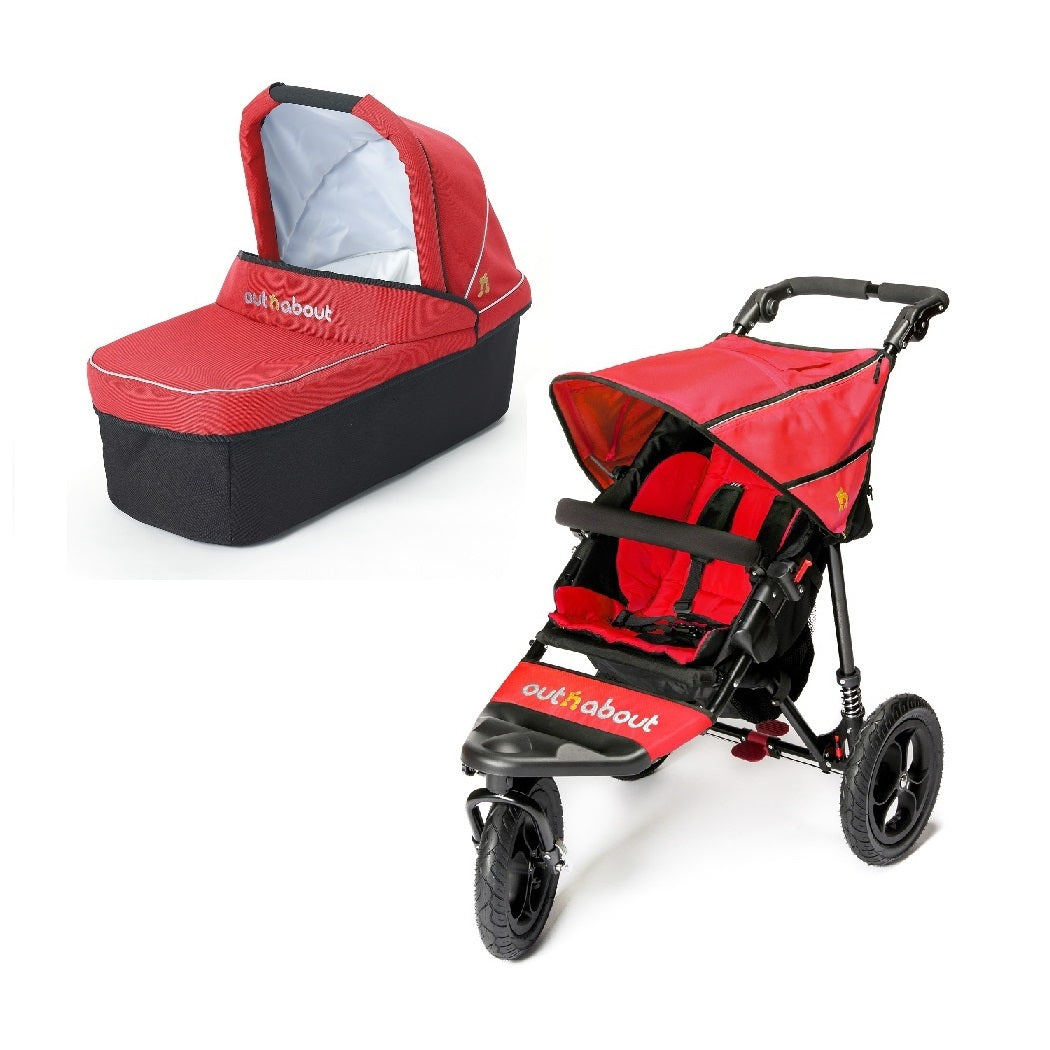 Out n About Nipper 360 v4 Pushchair & Carrycot (Carnival Red)