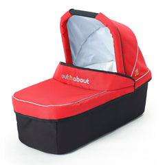 Out n About Nipper 360 v4 Pushchair & Carrycot (Carnival Red) - showing the carrycot
